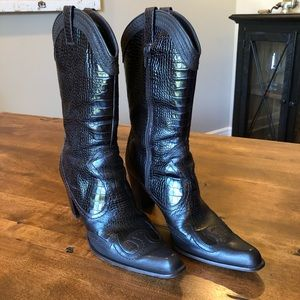 Stuart Weitzman Dark Brown Preston Boots Sz 9.5